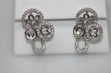 CZ Earrings .925 Sterling Silver