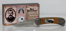 COLLECTIBLE DOC HOLIDAY KNIFE FOLDING KNIFE W/PICTURE