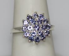 0.70 CTW TANZANITE RING .925 STERLING SILVER