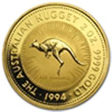 1994 2 oz Australian Gold Nugget (Light Abrasions)