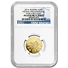 2014 Limited Edition 1/4 oz Proof Gold Austrian Philhar