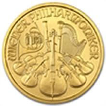 1/2 oz Gold Austrian Philharmonic - Random Year