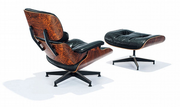 Charles & Ray Eames Lounge chair and ottoman (2)