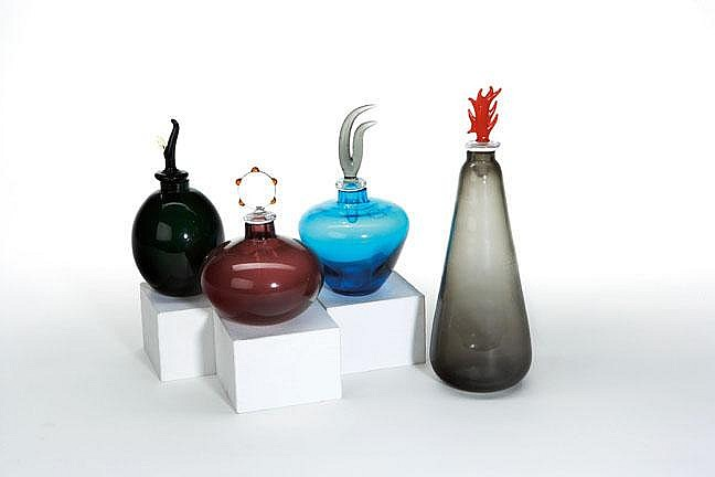Laura Diaz de Santillana for Venini group of 5 perfume bottles