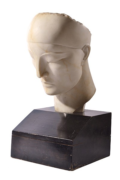 BORIS LOVET-LORSKI (LITHUANIAN / AMERICAN 1894-1973) God Unknown 1927 Carrara marble, ebonised wood