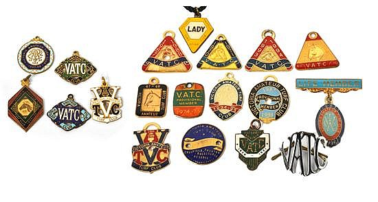 FIVE VICTORIA AMATEUR TURF CLUB BADGES
