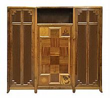 A FRENCH WALNUT AND PARQUETRY SIDE CABINET
