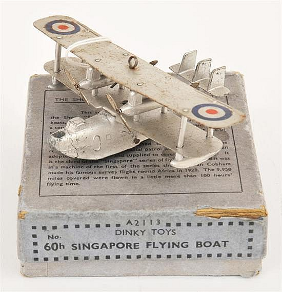 DINKY PRE-WAR 68 SINGAPORE FLYING BOAT (G BOX F-G)