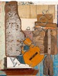 MURRAY WALKER (BORN 1937) Mediterranean Conversation found timber assemblage