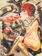 ARTIST UNKNOWN (20TH CENTURY) The Kiss (After George Grosz) oil on canvas