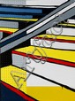 § JASPER KNIGHT (BORN 1978) Yellow Steps 2011 enamel, masonite and perspex on board