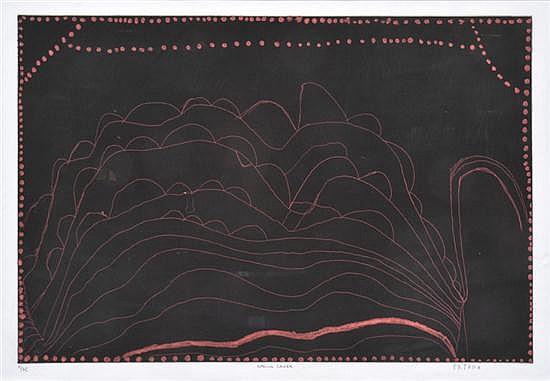PATRICK MUNG MUNG (BORN CIRCA 1944) Spring Creek etching 13/75
