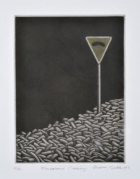 GRAEME PEEBLES (BORN 1955) Macaroni Crossing 1992 mezzotint 10/50
