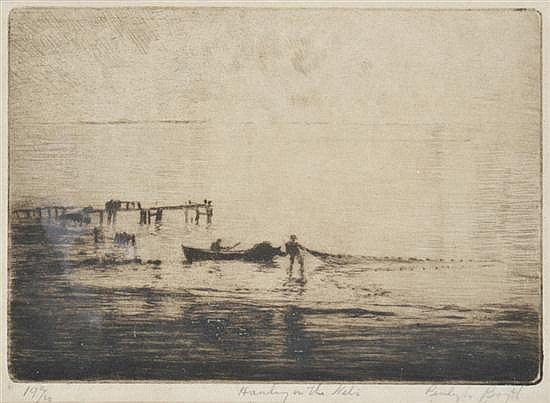 PENLEIGH BOYD (1890-1923) Hauling the Nets drypoint 19/30