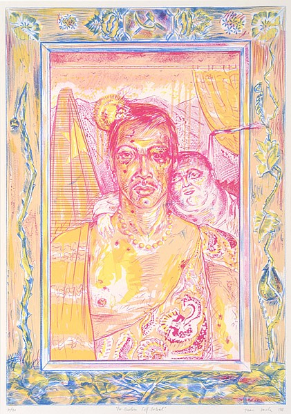 JUAN DAVILA (BORN 1946) Pre-Modern Self-Portrait 1988 screenprint 30/30
