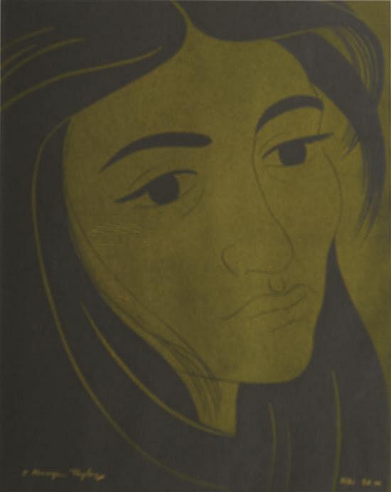 E. MERVYN TAYLOR (NEW ZEALANDER, 1906-1964) Mai woodcut ed.20