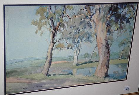 CARLYLE JACKSON Gum Trees Around a Pond