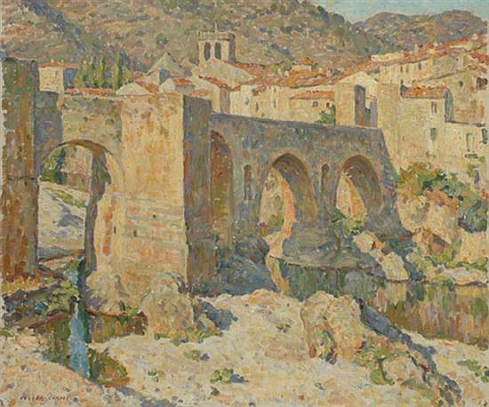 Robert Richmond Campbell (1902-1972) Besalu, Spain oil on canvas
