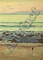 CHARLES BUSH (1919-1989) Seascape oil on canvas