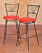 PAIR OF HIGH STOOLS