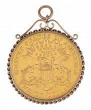 AN AMERICAN COIN PENDANT