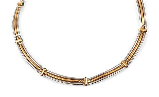 A GEM SET CHOKER BY BULGARI