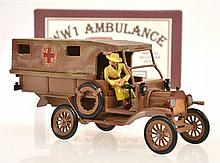 TOY ARMY WORKSHOP P151 WWI AMBULANCE WITH LADY DRIVER (E-M BOX E-M)