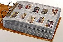 BROWN AND BEIGE ALBUM OF CIGARETTE CARDS (A LOT)