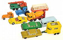 10 X LESNEY MATCHBOX MODELS, UNBOXED, A/F (10)