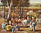 ROBERT YOUNG (BORN 1926) Country Races 1980 oil on canvas board