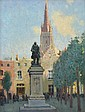 VIDA LAHEY (1882-1968) In Bruges oil on canvas laid on board