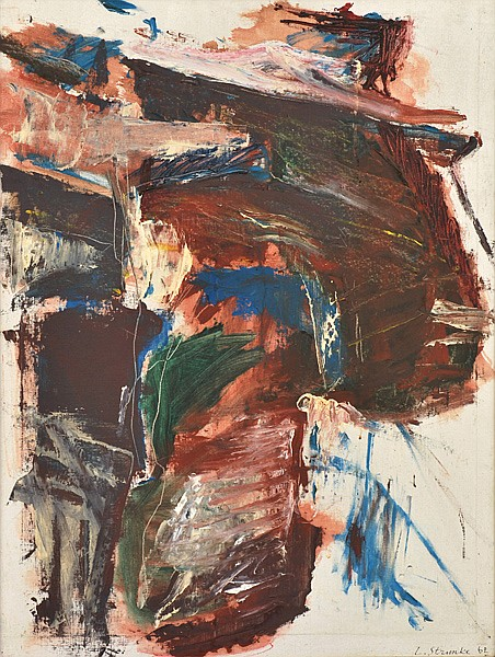 LARIS STRUNKE (LATVIAN/SWEDISH, BORN 1931) Untitled 1962 oil on canvas on board