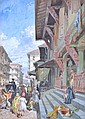 WILLIAM SIMPSON (BRITISH, 1823-1899) Street in Bombay 1867 chromolithograph