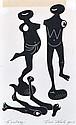 ERIC THAKE (1904-1982) Ecstasy 1956 linocut