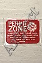 ANDREW MCDONALD & VLADIMIR KANIGHER (AMAC & WALAAD) Permit Zone Info Board (Red & White) 2004 unique state stencil print on acetate ...