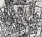 JAN SENBERGS (BORN 1939) Downtown 1992 etching 7/14