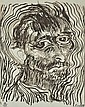 § BRETT WHITELEY (1939-1992) Self Portrait, One of a Dozen Glimpses from Another Way of Looking at Van Gogh 1983 etching 89/100