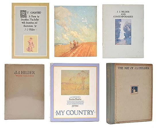 SIX BOOKS CONCERNING J.J. HILDER