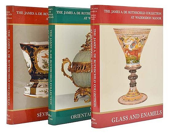 THREE VOLUMES OF THE JAMES A. DE ROTHSCHILD COLLECTION AT WADDESDON MANOR