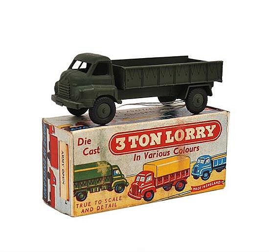 AUTOMEC (ENGLAND) 3 TON LORRY ARMY GREEN (M BOX VG)