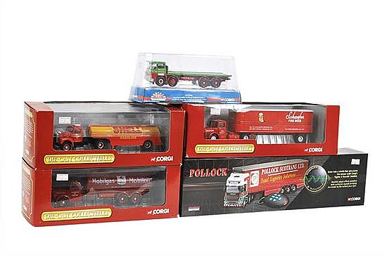 CORGI POLLOCK CC12931 LIMITED EDITION; 3 X CORGI MACK; AND CORGI MARQUES OF DISTINCTION (M BOXES VG-M) (5)