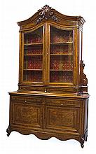 A FRENCH WALNUT SIDE CABINET