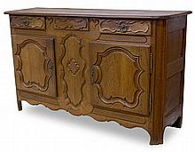 AN 18TH CENTURY FRENCH PROVINCIAL OAK SIDEBOARD