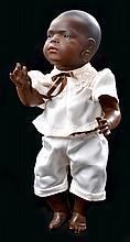 A HEUBACH KOPPELSDORF 399 BISQUE HEAD BLACK BABY DOLL