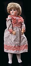 A DEP HORSE SHOE MARKED 1900-4 BISQUE HEAD GIRL DOLL