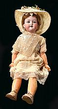 A LARGE ARMAND MARSEILLE AM 390 BISQUE HEAD DOLL