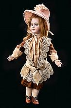A DEP FRENCH BISQUE HEAD GIRL DOLL