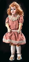 A HEINRICH HANDWORK TWO AND A HALF BISQUE HEAD COMP JOINTED BODY GIRL DOLL