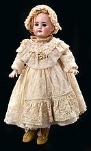 A DEP GERMAN BISQUE HEAD CHARACTER DOLL