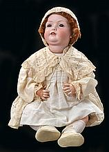 A B-P 604 GERMAN BISQUE HEAD CHARACTER DOLL